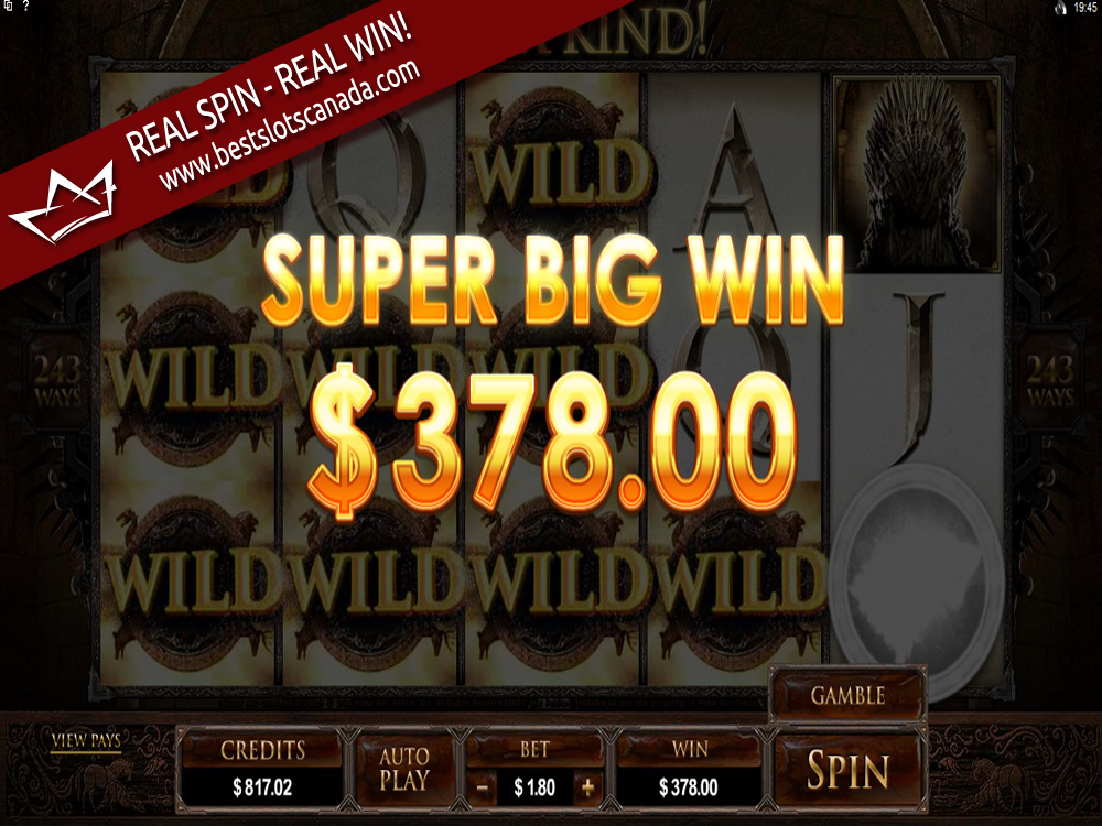 Game of Thrones Slot Super Big Win