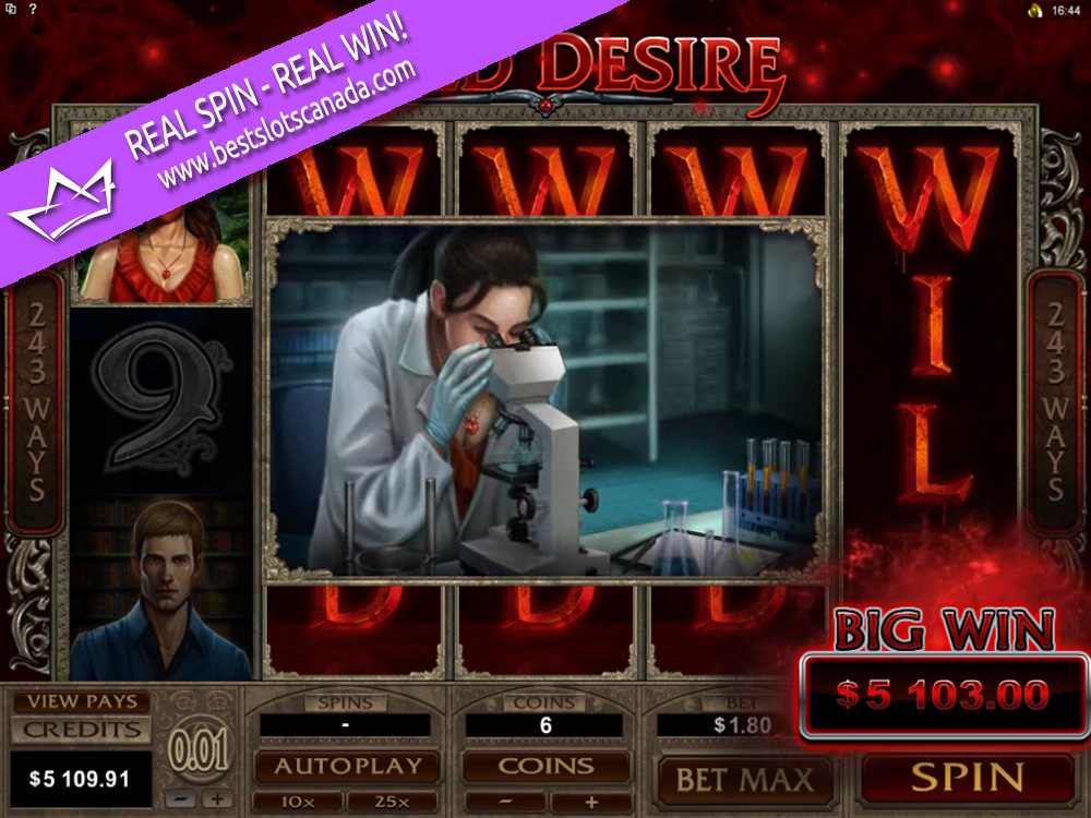 Immortal Romance Slot Wild Desire Mega Big Win