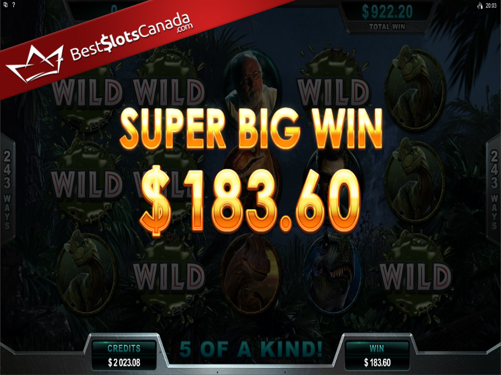 Jurassic Park Slot Dilophosaurus Super Big Win